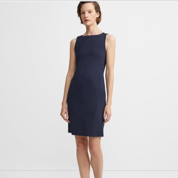 c7961c6797b Theory Dresses | Deep Navy Stretch Wool Shift Dress | Poshmark